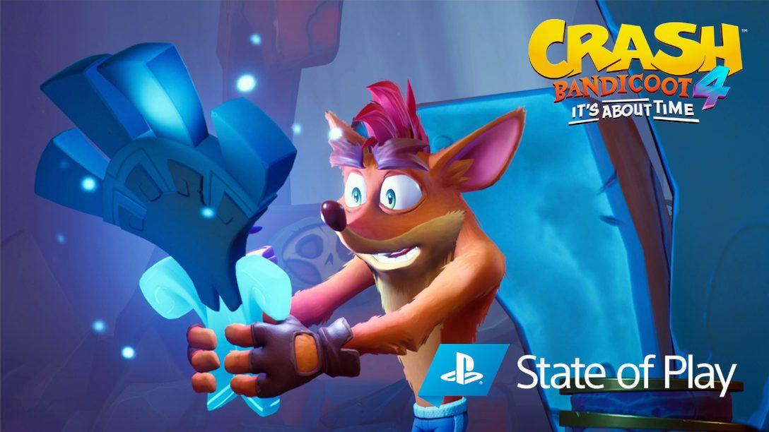 Crash Bandicoot 4: It's About Time의 새로운 N. Verted 모드, 플레이 가능한 캐릭터를 공개합니다