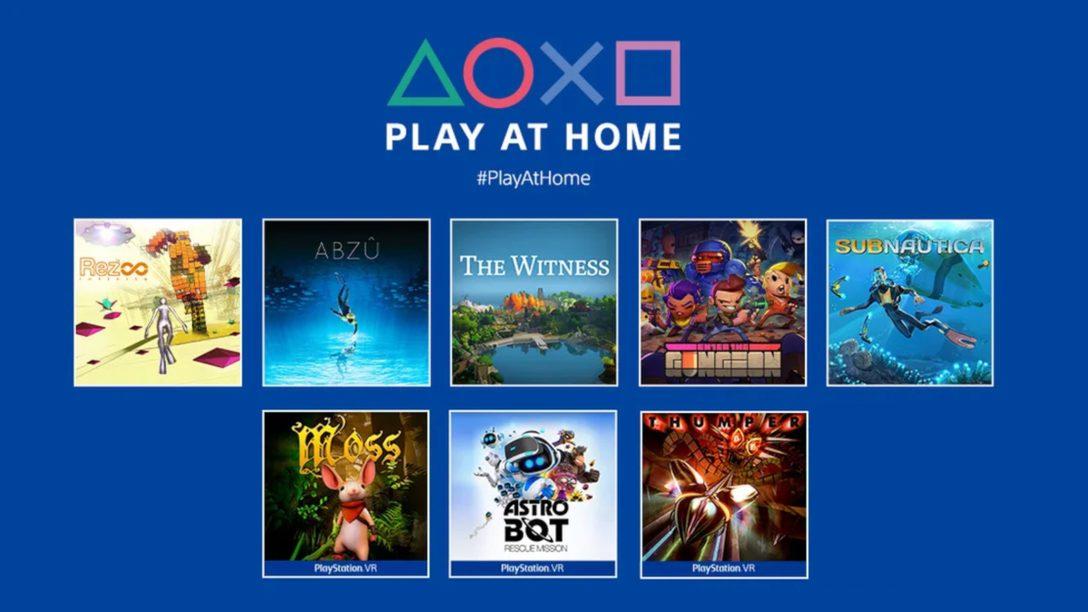 Play At Home의 새로운 소식: 새로운 게임을 올해 봄에 무료로 다운로드할 수 있습니다