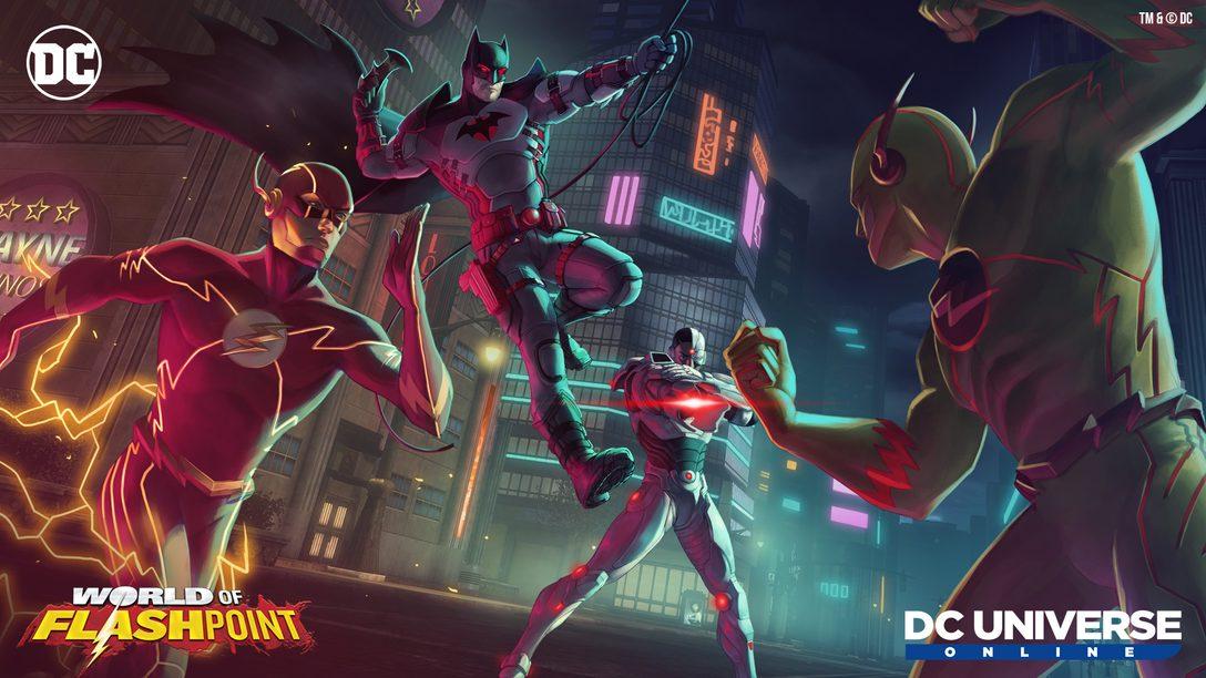 2021년 4월 15일, DC Universe Online이 World of Flashpoint를 선보입니다